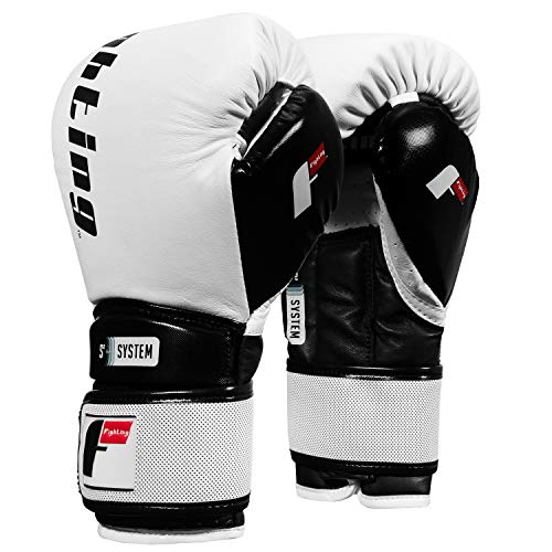 Fighting Sports S2 Gel Power Sparring Gloves, White/Black, 16 oz