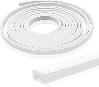 Newest 16.4FT/5M Silicone LED Channel System, 6x12mm DIY LED Neon Rope Light IP67 Waterproof for 8mm LED Strip Lights Inst...