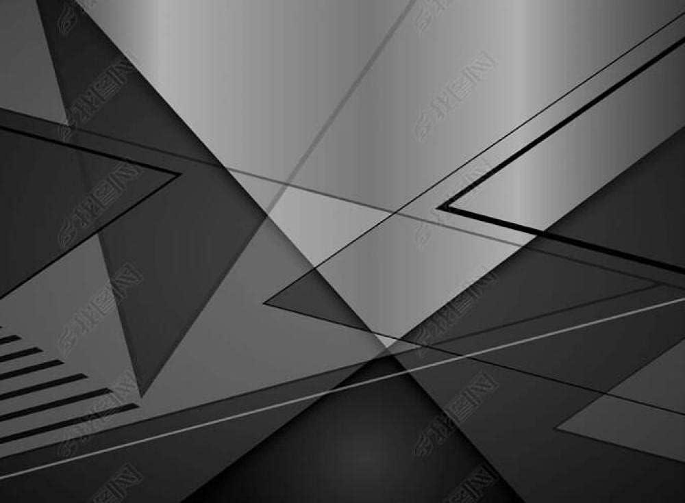 Wall Mural 3D Wallpaper Max 42% OFF Geometric sale Murals Wallpap Gray Black