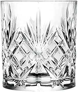 RCR Crystal Melodia Whisky Glasses / 310ml Whiskey Tumblers, Set of 6. Gift boxed by RCR