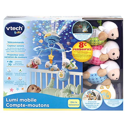 V Tech - Lumi mobile Compte-moutons Bleu/Blanc