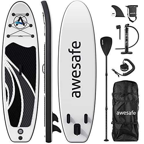 awesafe Inflatable Stand Up Paddle Board with Premium SUP/ISUP Accessories...