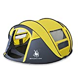 HuiLingYang Outdoor Instant Pop Up Dome Tent Ideal Shelter for Casual Family Camping Hiking Pink