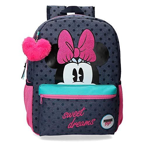 Disney Sweet Dreams Minnie, Zaino Scolastico 42 cm Bambina, Blu,...