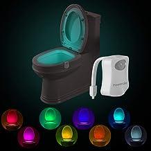 Powerole Toilet Nachtlampje PIR Motion Geactiveerd Toilet Lichtsensor LED Wasruimte Nachtlampje Binnen Toliet Lamp 8 Kleur...