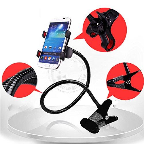 XCJ Mobiele Telefoonhouder Multifunctionele Lazy Stand Nachtkastje Telefoonhouder Universeel Mobiele Telefoonhouder Metalen Basis, Zwart, Beugel