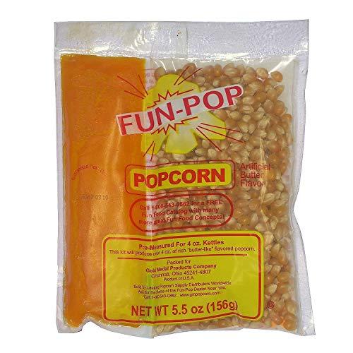 Gold Medal 2834 Mega Pop Popcorn Kit for 4 Oz. Fun Pop - 36 / CS