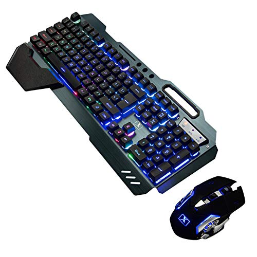2,4 GHz inalámbrico LED Gaming Teclado Ratón Set para PC...