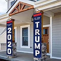 """Measures 14"""" x 71"""", fits the door perfect. Made of weather resistant 600D polyester Oxford Fabric. Comes assembled with rod and string. Ready to hang. Support President Trump 2020- No more bull, Keep America Great! show your support! Check my store M..."""