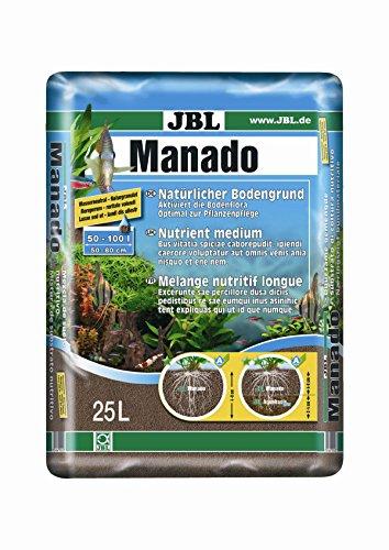 JBL Manado Natürlicher Bodengrund mit Nährstoffspeicher, Reich an Eisen, 25 l