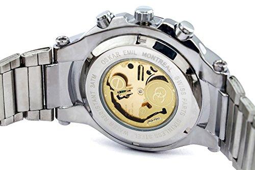 Oskar-Emil Classic Watches Reloj para Hombre de con Correa en Acero Inoxidable