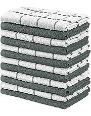 Utopia Towels - 12 Toallas de Cocina, paños de Cocina (38 x 64 cm, Gris y Blanco)