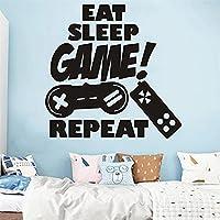 クリエイティブゲームコンソールは子供のためのスリープゲームのウォールステッカーを食べる女性客室芸術壁画の贈り物