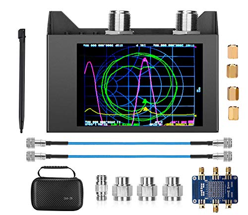 "NanoVna SAA-2N VNA Antenna Analyzer,SEESII 50KHz -3GHz Vector Network Analyzer with Bag & Testboard Kit,4"" inch LCD,HF VHF UHF Measuring S Parameters, Voltage Standing Wave Ratio Smith Chart"