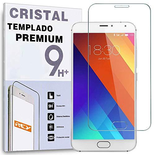 REY Protector de Pantalla para MEIZU MX5 Cristal Vidrio Templado Premium