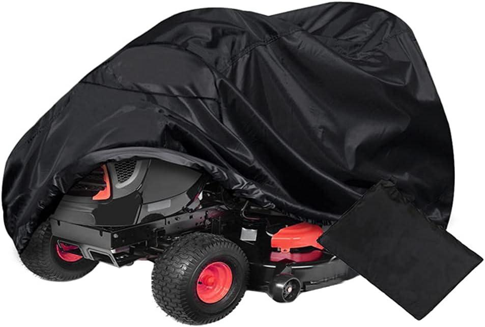 LICHENGTAI Cortacésped Funda, Tractor de Jardín Funda Resistente Impermeable Oxford Paño Anti-UV Protector Duradero 210D Antipolvo para Jardín Exterior, para Tractores de Jardín 182cm x 111cm x 116cm
