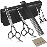 Hair Cutting Scissors Set, Multi-Use Hair Cutting Shears Set for Barber Salon Home Women Men Kids