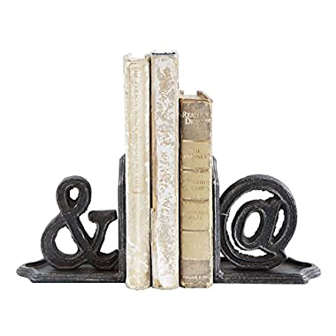 Creative Co-op Vintage Style And &At Cast Iron Bookends - Set of 2