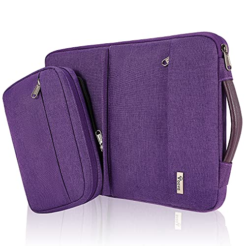 Voova 14-15.6 Inch Laptop Sleeve Case with Detachable Accessory Pocket, Waterproof Computer Carry Bag Cover Compatible with MacBook Pro 15/16, Acer Hp Samsung Chromebook for Women Ladies girls, Purple