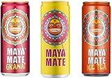 Maya Mate Bundle 24x 330ml inkl 6€ Einwegpfand (8 Dosen pro Sorte) Original, Ice Tea & Granat