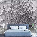 Fotomurali – Spazio geometrico muro di mattoni 450x300 cm Decorazioni pareti Carta da parati 3d Poster Rivestimento per pareti Decorazione per camera da letto soggiorno TV sfondo