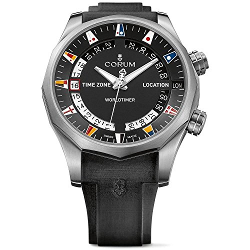 CORUM MEN'S ADMIRAL S CUP LEGEND 47 WORLDTIMER 47MM WATCH 637.101.04/F371...