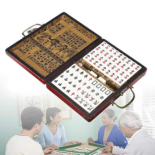 Weier. Ben kaart set 144 Mah-dong tegels Multi-color spel Vintage draagbare Chinese zeldzame speelgoed met doos