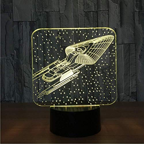 Novelty 7&16M Color Change 3D Colorful Star Trek Lamp Led Visual Atmosphere Light Bedroom Decor Bedside Baby Sleep Nightlight Gifts
