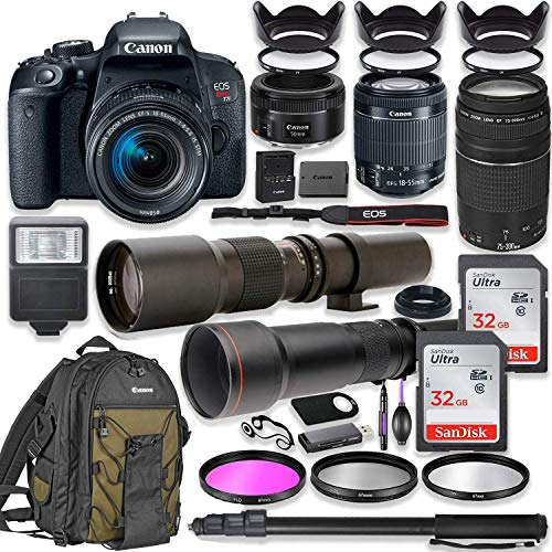 Canon EOS Rebel T7i DSLR Camera with 18-55mm Lens...