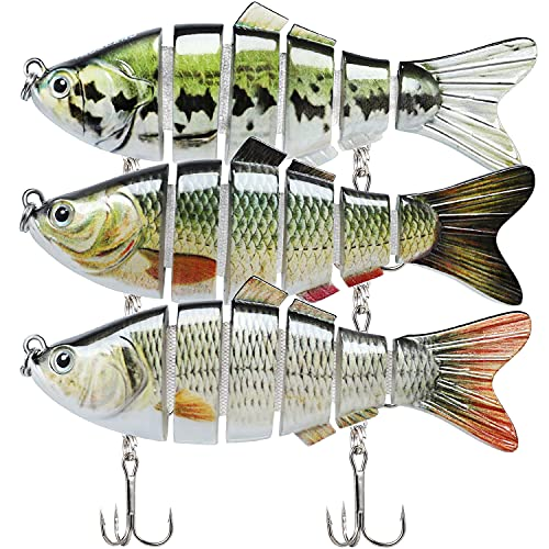 TRUSCEND Fishing Lures for Bass Trout Segmented Multi Jointed...
