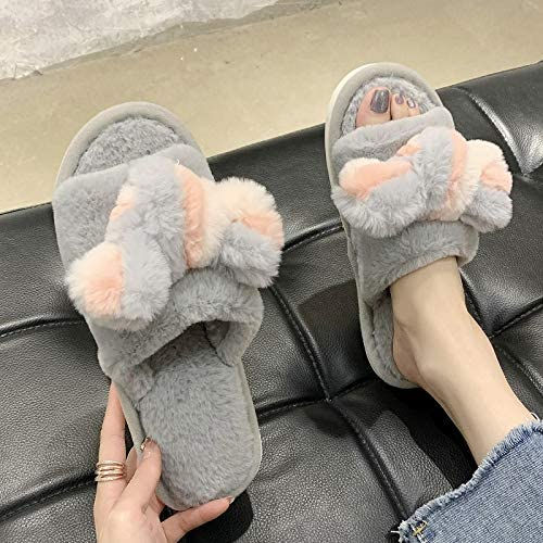 WWWEE Women Indoor Max 68% OFF Warm Fluffy Plush House Slipp Slippers Ladies Recommended