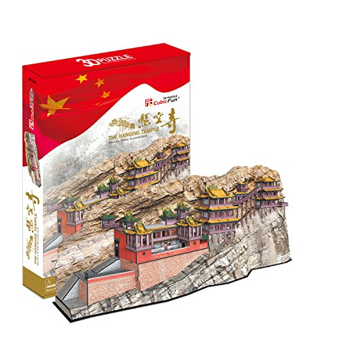3D Puzzle Hanging Tempel China Kloster Felsenkloster Cubic Fun Temple