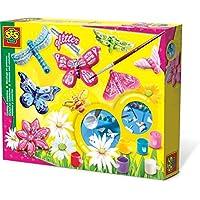 SES Set de Pintura y Montaje de Mariposa con Brillantina para niños, Multicolor (01131)