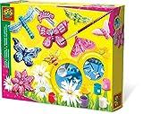 SES- Set de Pintura y Montaje de Mariposa con Brillantina para niños, Multicolor (01131)