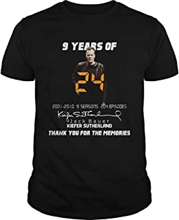 9 Years Of Jack Bauer Kiefer Sutherland Thank You For The Memories Shirt T shirt Hoodie for Men Women Unisex