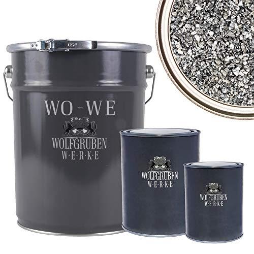 WO-WE Steinteppich SET 25kg Marmorkies + 1,5kg Epoxidharz Bindemittel + Mischeimer | Dunkelgrau 1-4mm
