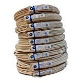 1 Pound Coil of Round Reed for Basket & Wicker Weaving, Natural Color, Any Size, 2,3,4,5,6,7,8,9,10 (#4)