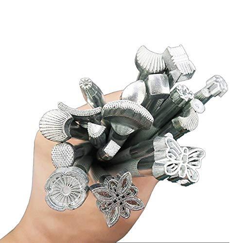 YUIOP Juego de Punzones, Impresión de Cuero Herramienta de Aleación de Talla Que Hace el Arte Sculpture Impreso del Metal de DIY de una Silla de Trabajo 20pcs