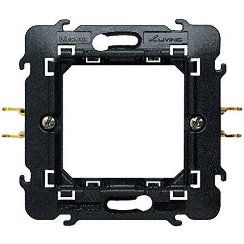 Bticino SL4702G/1F Livinglight Supporto con 2 Moduli, 71 X 71 cm, Fissaggio con Graffette, Multicolore