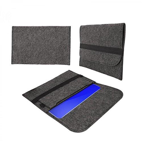 eFabrik hoes voor Dell Inspiron 11 3162 beschermtas tas sleeve case soft cover vilt donkergrijs