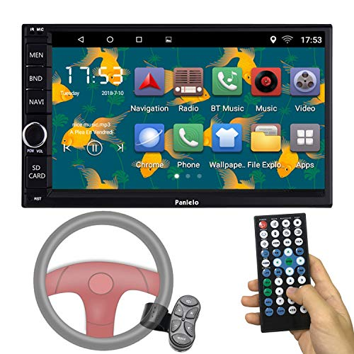 Panlelo PA012SWC Android 6.0 Headunit Car Stereo GPS Navigatie 7 inch Car Radio Touch Screen Bluetooth WiFi Mirror Link SWC Quad Core 1GB RAM 16GB ROM AM/FM/RDS