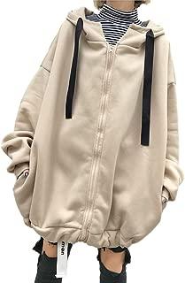 [ウィトパ] 超ビッグシルエット 裏起毛 ドルマリン袖 あったか 紐付き カジュアル ゆるり パーカー アウター レディース