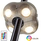 Umbrella Lights LUXSWAY Super Bright Patio Night Light 4 Modes 16 Colors Battery Operated Remote Control Camping Tent Lighting Light