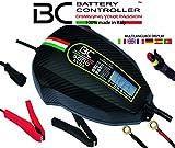 BC Battery Controller BC 5000 EVO+, Cargador de baterías y Mantenedor Digital/LCD, Comprobador de Batería y Alternador para todas las Baterías de Coche y Moto 12V de Plomo-Ácido, 5A/1A