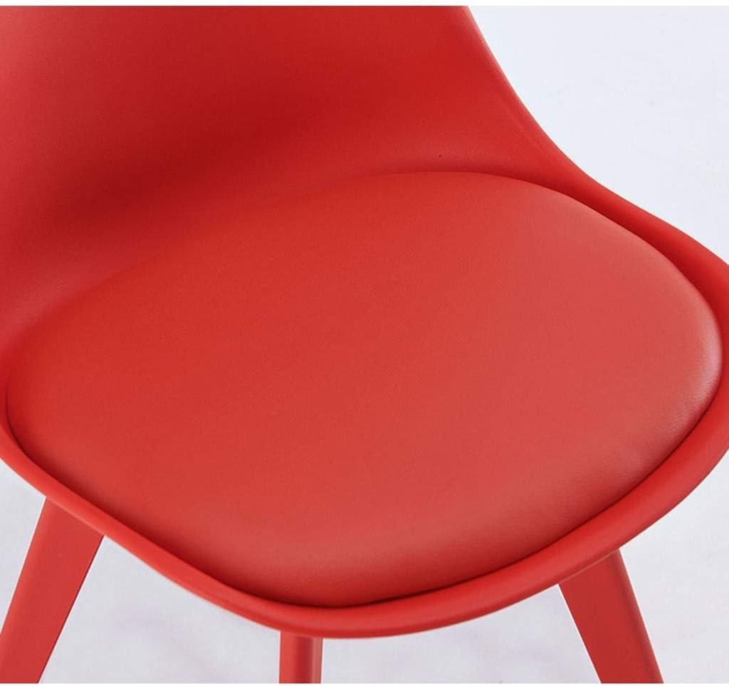 LSRRYD Tapissé Chaises De Salle À Manger Style Rétro En Plastique Pour Bureau Salon Salle À Manger Cuisine (Color : Blue) Red