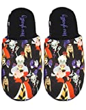 Disney Villians All Over Print Women's Multi-Coloured Polyester Slippers (9 UK) Black