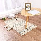 Home Deco Läufer Teppich Baumwolle Waschbar Handwebteppich 60x90cm Vintage Marokkanisches