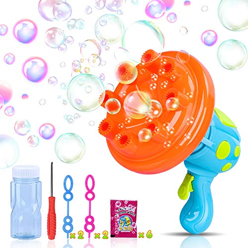 iYoYo Bubble Machine Bubble Gun Shooter, Bubble Blower Blaster Toy Bubble Maker for Kids, Toddlers, Boys, Girls, Birthday Parties, Indoor Outdoor Activities, Easter
