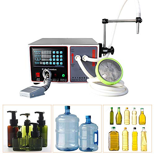 Llenadora de botellas digital automática Bomba de control Máquina de llenado de líquidos GFK-160...