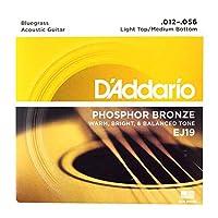 D'Addario EJ19 Bluegrass Light Top Medium Bottom アコースティックギター弦×3セット
